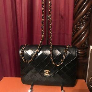 Authentic chanel flap vintage bag